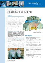 CONDENSEURS DE TURBINES - Balcke-Dürr GmbH