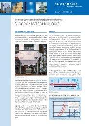 BI-CORONA®-TECHNOLOGIE - Balcke-Dürr