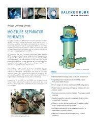 Moisture Separator Reheaters -  Balcke-Dürr