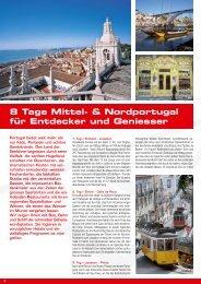 8 Tage Mittel- & Nordportugal für Entdecker und Geniesser