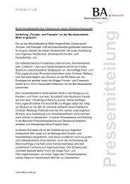 Pressemitteilung - Berufsakademie Melle