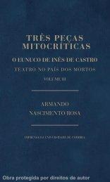 TRÊS PEÇAS MITOCRÍTICAS - Universidade de Coimbra
