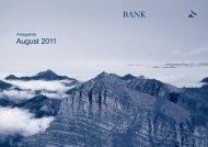 August 2011 - Bank Alpinum AG
