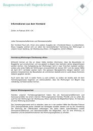 News 02/10 - Baugenossenschaft Hagenbrünneli