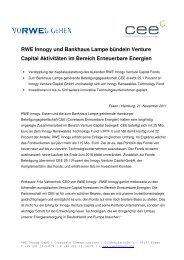 RWE Innogy und Bankhaus Lampe bündeln Venture Capital ...