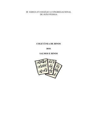 Coletânia de Salmos & Hinos - iii igreja evangélica congregacional ...
