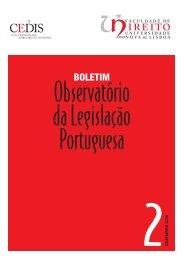 boletim - Faculdade de Direito da UNL - Universidade Nova de Lisboa