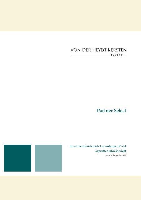 Jahresbericht 2009 - Bankhaus von der Heydt
