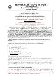 Edital: 364/2012 - Prefeitura Municipal de Bauru