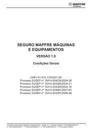 SEGURO MAPFRE MÁQUINAS E EQUIPAMENTOS