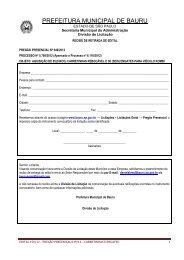 Edital: 150/2012 - Prefeitura Municipal de Bauru