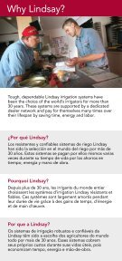 EFFICIEnt IRRIGAtIOn SyStEmS GUIDE - Lindsay Europe - Page 2