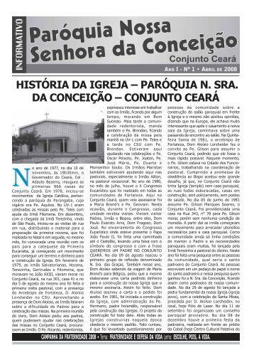 Maio de 2008 - Paróquia Nossa Senhora da Conceição