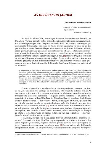 As Delícias do Jardim - Curso Independente de Filosofia