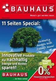 BAUHAUS Flugblatt 26.09. - 22.10.2011