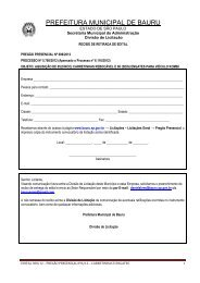 Edital: 308/2012 - Prefeitura Municipal de Bauru