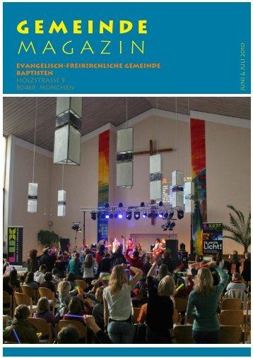 Magazin GEMEINDE - Baptisten München Holzstrasse