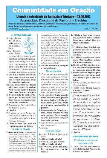 missas junho 2012.pmd - Diocese de Erexim