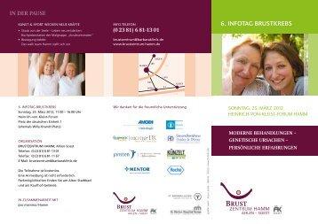 6. infotag brustkrebs - St. Barbara-Klinik Hamm-Heessen GmbH
