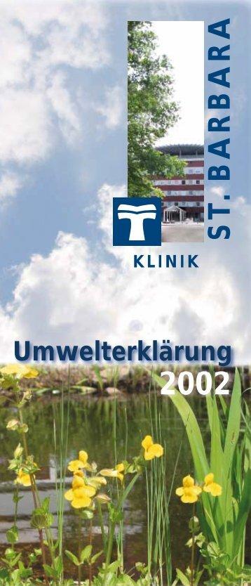 Umwelterklärung als PDF-Datei (1,14 MB) - St. Barbara-Klinik ...