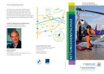 Flyer Rettungsdienstschule - St. Barbara-Klinik Hamm-Heessen GmbH