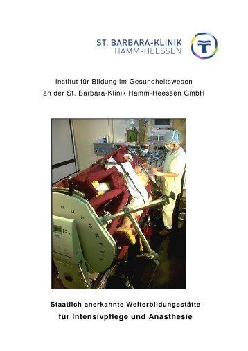 Info Intensiv u. Anästhesie - St. Barbara-Klinik Hamm-Heessen GmbH