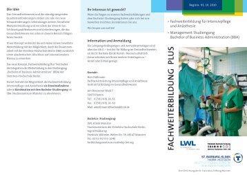 """Fachweiterbildung """"Plus"""" (Intensiv u. Anästhesie) - St. Barbara-Klinik ..."""