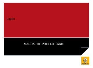 Logan MANUAL DE PROPRIETÁRIO - Renault