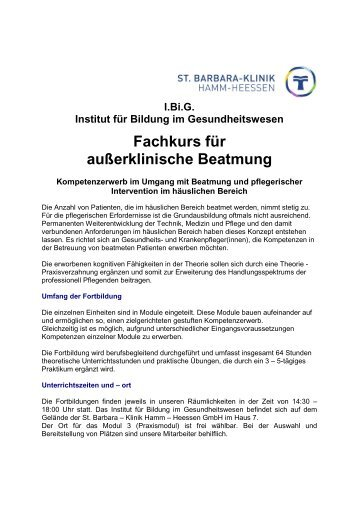 Beatmungskurs-Internet 2010-2011 - St. Barbara-Klinik Hamm ...