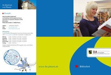 Flyer zur Bibliothek - Staatliche Studienakademie Plauen