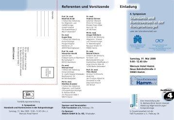 Das Programm - St. Barbara-Klinik Hamm-Heessen GmbH