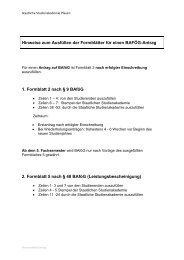 Hinweise BAFÖG Antrag - Staatliche Studienakademie Plauen