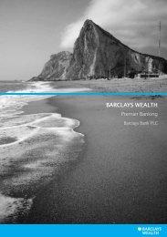 Premier Banking brochure - Gibraltar - Barclays Wealth