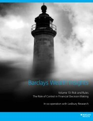 Risk And Rules The Role Of - Barclays Wealth