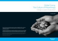 Global Giving: The Culture of Philanthropy - Barclays Wealth