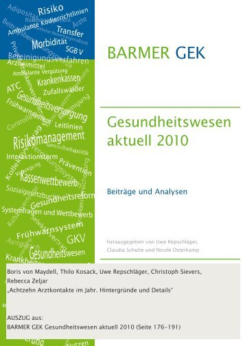 Achtzehn Arztkontakte im Jahr - Barmer GEK
