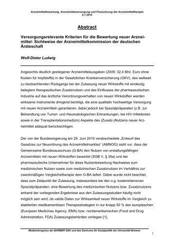 Vortrag Prof. Dr. Wolf-Dieter Ludwig ( PDF , 14 - Barmer GEK
