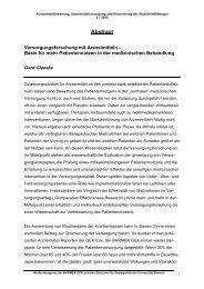 Vortrag Prof. Dr. Gerd Glaeske ( PDF , 14 KB - Barmer GEK