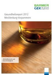 Gesundheitsreport 2012 t Mecklenburg-Vorpommern - Barmer GEK