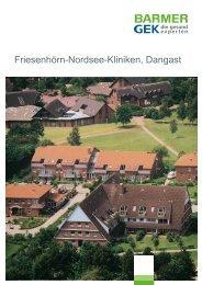 Friesenhörn-Nordsee-Kliniken - Dangast (  PDF , 329 ... - Barmer GEK