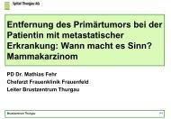 BET: Effekt der RT auf Lokalrezidiv und Ueberleben RT des ... - ZeTuP