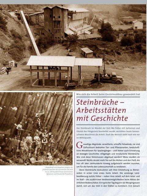 Steinbrüche - Arbeitsstätten mit Geschichte (PDF)