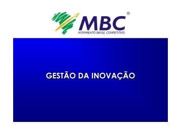 CT TI - Gestao da Inovacao - MBC