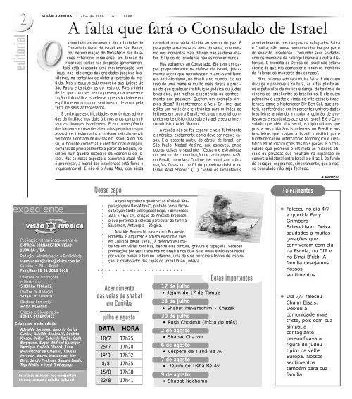 Visão Judaica