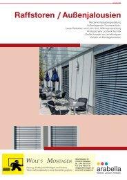 09-1068 ARABELLA Prospekt Raffstore A4 4c v9 ... - wolfmontagen.ch