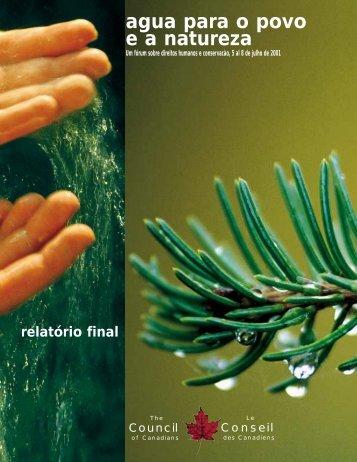 Agua para o povo e a natureza - Blue Planet Project