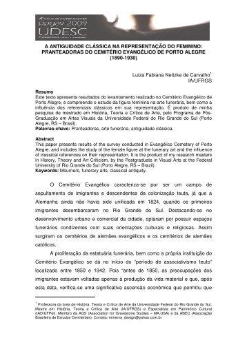 A ANTIGUIDADE CLÁSSICA NA REPRESENTAÇÃO DO FEMININO ...