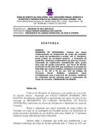 JUIZADO ESPECIAL CíVEL DA COMARCA DE PAULO AFONSO – BA