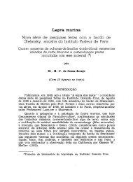 Lepra murina: nova série - Memórias do Instituto Oswaldo Cruz