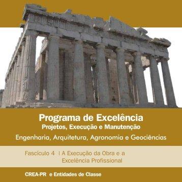 Programa de Excelência Projetos, Execução e - Crea-PR